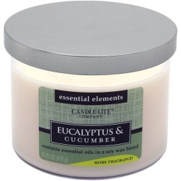 CANDLE-LITE EUCALYPTUS & CUCUMBER 3 KNOTY 45 H