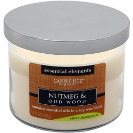 CANDLE-LITE NUTMEG & OUDWOOD 3 KNOTY 45 H